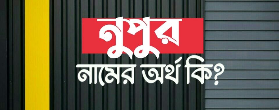 নুপুর শব্দের অর্থ কি? Nupur name meaning in Bengali
